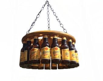 Beer Bottle Chandeliers Beer chandelier etsy beer bottle chandelier audiocablefo