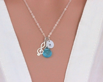 Music note necklace - Treble clef necklace - Personalized music necklace - Music Necklace Jewelry - Musician gift - Graduation gift for her