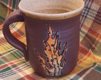 Fire Cup or mug for drinking Coffee, Tea, Beer, Wine