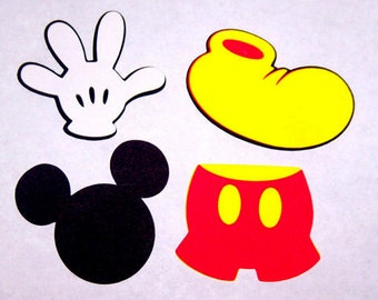 8 Mickey Mouse  5 inch die cut shapes