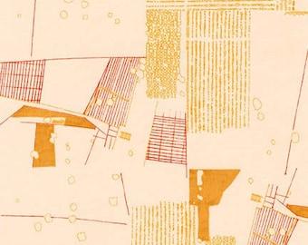 Friedlander Aerial in Tangerine, Carolyn Friedlander, Robert Kaufman Fabrics, 100% Cotton Fabric, AFR-16605-147 TANGERINE