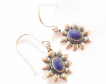 Lapis Sterling Silver Earrings earthegy #1019