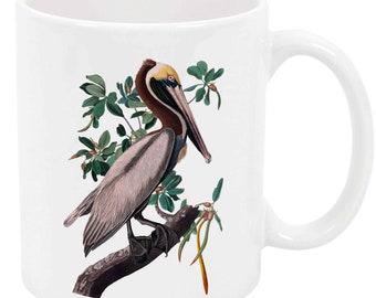 Brown Pelican - White Mug