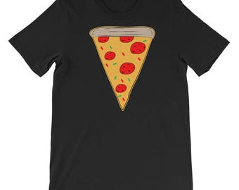 Slice of pizza emoji T-shirt-Funny Gifts-Missing Pizza Slice-Pizza Tee-Pizza Shirt-Weekend Shirt-Trendy Tee-Funny Tshirt-Pizza Slice Tshirt-