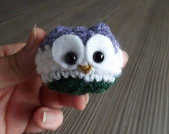 Genderqueer Owl - tiny crochet owl in genderqueer colours