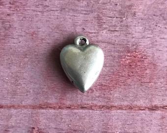 Mini Sterling Silver Heart Pendant Charm 1g