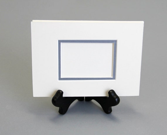 ACEO Mat Double mat for aceo fits 5 x 7 frame in off white
