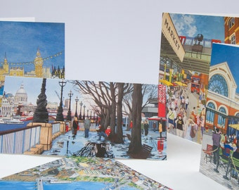 London Stationery Box - 10 x Illustrated Greeting Cards