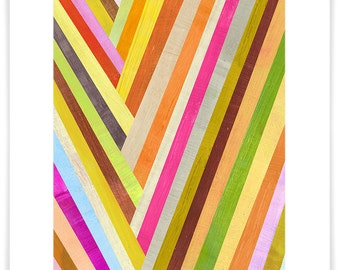 Checkmark, Abstract Art Print, Modern Home Decor, Geometric Design