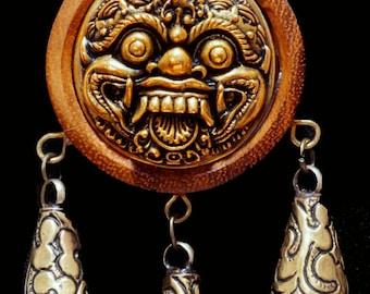 Mahakala Protection Amulet - Carnelian & Horn