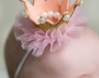 Newborn photo prop, baby photo prop, newborn crown headband, crown headband, birthday headband, birthday crown headband, baby crown, crown