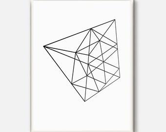 Minimalist Print, Geometric Print, Minimalist Art, Minimalism, Geometric Art, Fine Line Art, Graphic Art, Wall Print, Modern, Home Decor