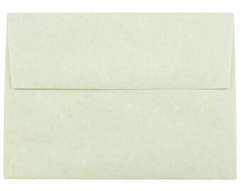 100 Astroparche green A6 envelopes  wedding invitations