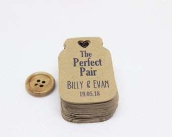 Mini gift tags, Small kraft paper tags, Kraft tags, Personalized favor tags, Thank you tags, Mason jar tags, Hang tags, Party favor tags
