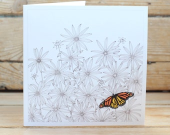 Daisies & Butterfly Greeting Card