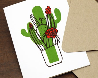 Flowering Cactus  | Signature Series Greeting Card