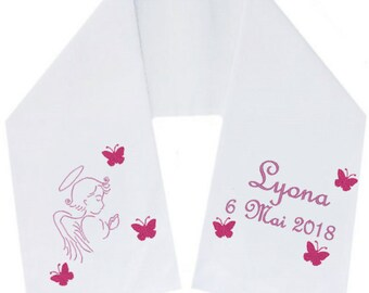 Embroidered scarf embroidered scarf personalized Butterflies free delivery