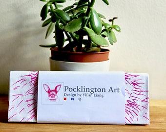 Pink Rabbit Tea Towel