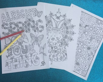 Spring Fling Pack, coloring pages to print and color
