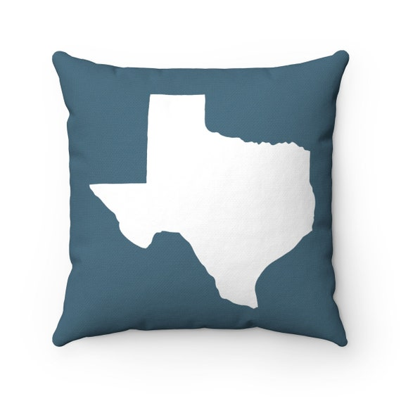 Teal Texas Throw Pillow . Teal Texas Pillow . Modern Teal Pillow . Texas Cushion . Texas State Pillow . Texas Gift 14 16 18 20 26 inch