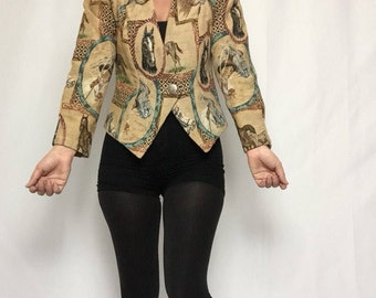 Vintage 'Two-Steppin Designs' Jacket | Rodeo | Western | Horse | Wild West | Boho | Equestrian