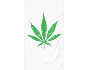 Weed Leaf, Weed Towel, weed stuff, 420, hippie towel, hippie, pot leaf towel, cannabis towel, got weed towel, weed lover towel