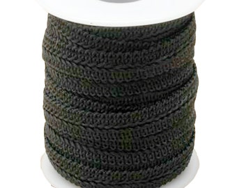 BLACK BRAID for ALICEBANDS. 1 cm wide in a 10 metre roll.