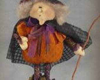 Cloth Doll Witch PATTERN - Wanda - SNS114
