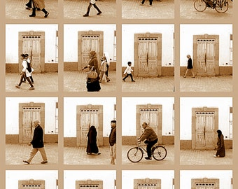 Moroccan Decor. Moroccan Photography Doors Photo Collage on Print or Canvas. Essaouira. World Photography Travel Photography Rustic Wall Art