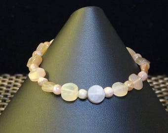 Moonstone Bracelet with Toggle Clasp