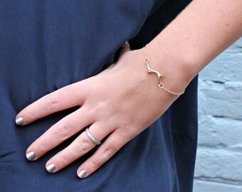 Gold Branch Bracelet-Twig Bracelet-Dainty Bracelet-Delicate Bracelet-Gold Chain Bracelet-Gifts Under 40-Minimalist Bracelet-Gift for Her