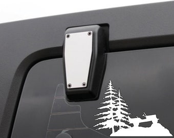 BEACH Jeep OR MOUNTAIN Jeep Willys Wrangler Renegade Cherokee Compass Liberty decal