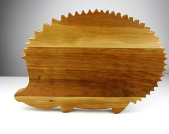 """Cute Hedgehog Cutting Board - Cherry - Unique grain variation - """"Mothers Day Gift"""""""
