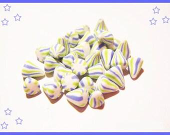 Polymer clay miniature charms treats candy jar