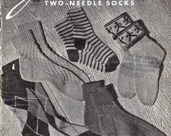 Jack Frost Two Needle Socks (22)  Knitting Patterns E Book Knitting Pattern 736002