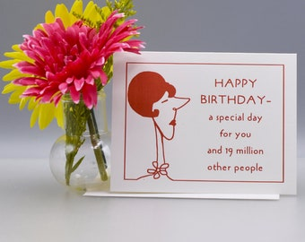 A SPECIAL BIRTHDAY - Funny Birthday Card - Item# B034