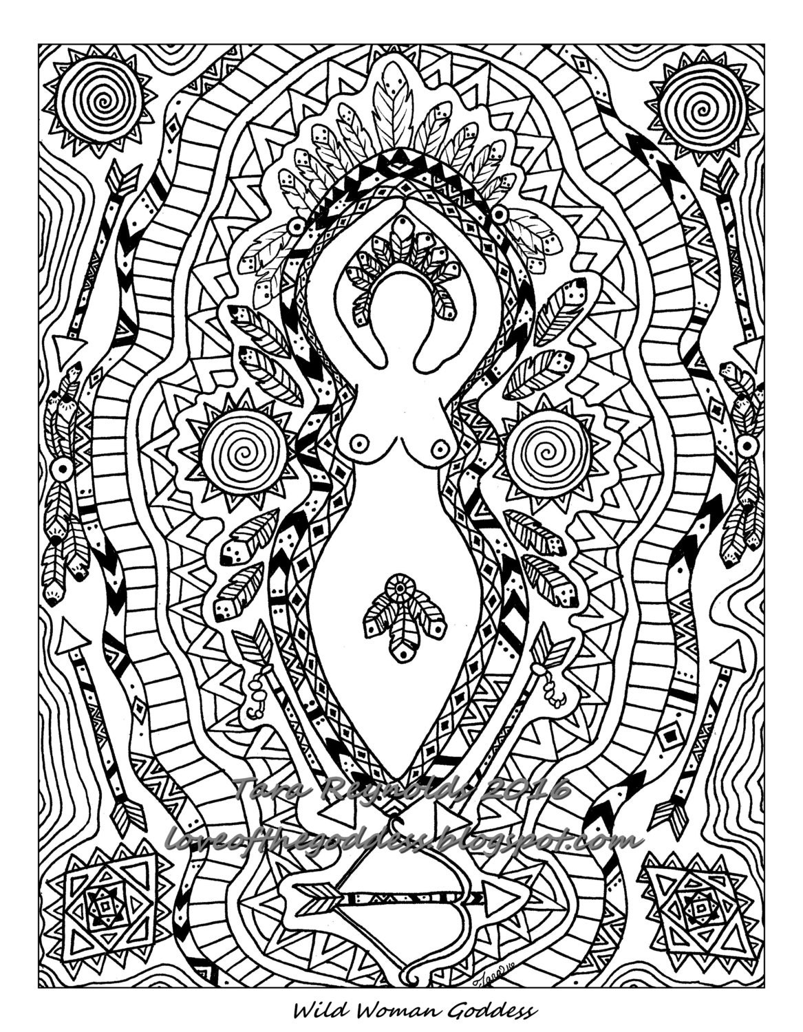 Goddess Art Coloring Pages For Adults Goddess Coloring Page Pagan Coloring Pages