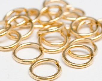 12g 12.0 mm ID 16.2 mm OD NuGold brass jump rings -- 12g12.00 open jumprings