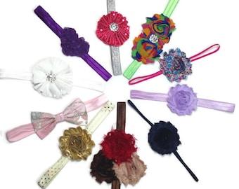 Headband Set, Baby Headbands, Grab Bag, Toddler Headbands, Photo Prop, Infant Headbands, Baby Girl Headbands, Baby Girl Bows, Birthday Gift