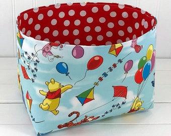 Storage Basket Baby Nursery Decor Home Decor Organizer Toy Storage Room Decor Baby Shower Gift Winnie the Pooh Tigger Eeyore Pooh Bear