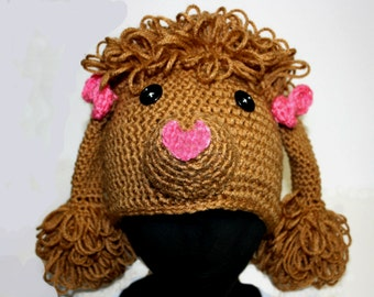 Tan Poodle Hat for Teens or Adults