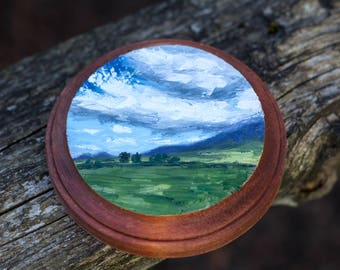 Oil Landscape Painting of Maui - Landscape Painting - Oil Painting - Painting - Mini Art - Hawaii Painting - Maui Painting