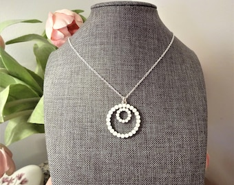 CRYSTAL INFINITY NECKLACE - opal crystal double round infinity pendant on a sterling silver chain - beautiful Valentine's day gift
