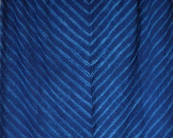 012 - Natural Hand Dyed Indigo Shibori Fabrics by Bio Method