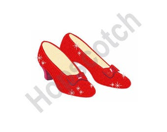 Ruby Red Slippers - Machine Embroidery Design
