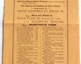 Medical Broadside Circa 1900