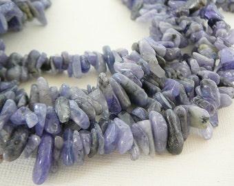 Tanzanite Gemstone Beads, Nugget Sliver Dagger Chips, Purple