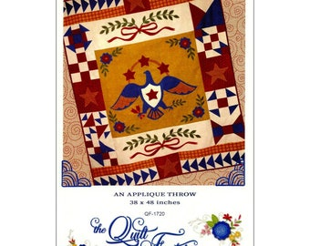 Sweet Liberty Quilt pattern by The Quilt Factory, Americana , eagle pattern