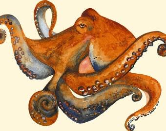 Octo- Octopus Art- 11 x 17 print