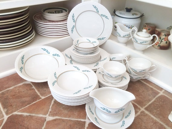 & Vintage Dishes Set of Dishes Dinnerware Set Dinner Plates Dish